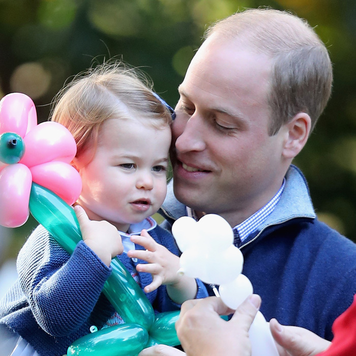 "The Princess shared a tender moment with her ""dada,"" Prince William. During the party, the Duke asked his daughter, ""Would you like a balloon, Charlotte?"" 