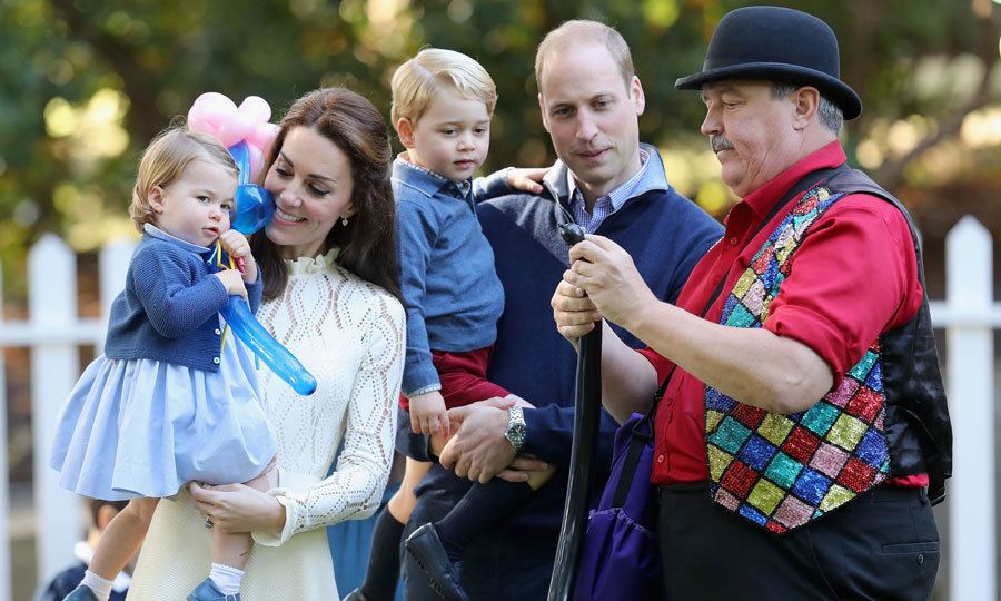 "The Duke and Duchess' children had balloons made by an entertainer named Paul Kilshaw. Paul revealed, ""I made a teddy bear and a flower for Charlotte and made George a tree and a volcano. When I made him the spider, he started to laugh and pushed it in my face then pushed it in dad's face.""