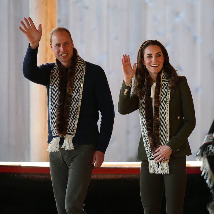 Prince William and Kate Middleton were in sync and matching during their visit to the Carving House at the Haida Heritage Centre and Museum.