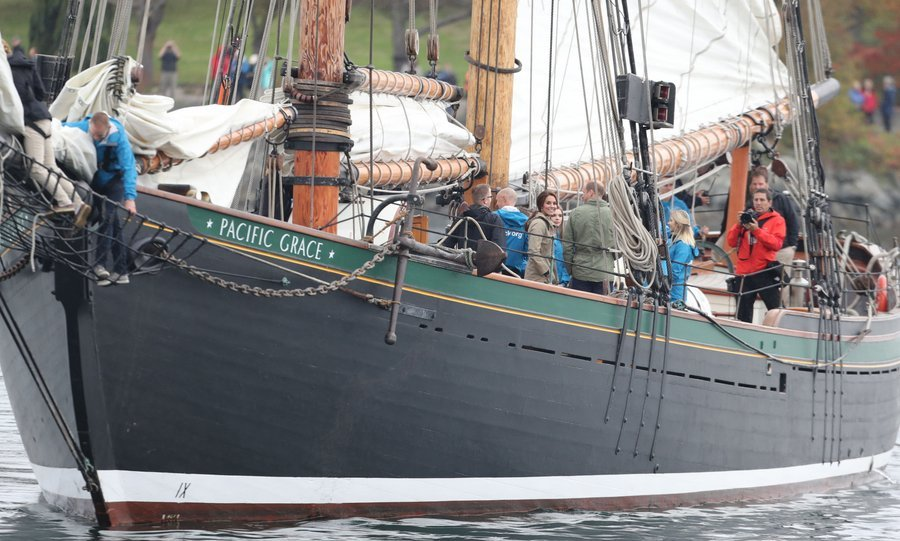 The 115ft <I>Pacific Grace</I> is used for sail training programs in the B.C. area. 