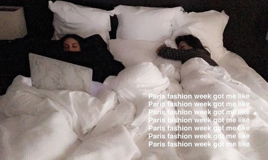 Kim was in the French city with her sisters Kourtney Kardashian, Kendall Jenner and mom Kris Jenner for Paris Fashion Week, attending a number of shows and parties.