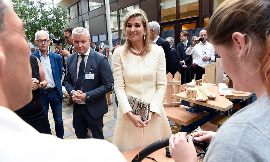 Queen Maxima of the Netherlands attended the 10th anniversary of the Stichting Piezo nonprofit organization. 