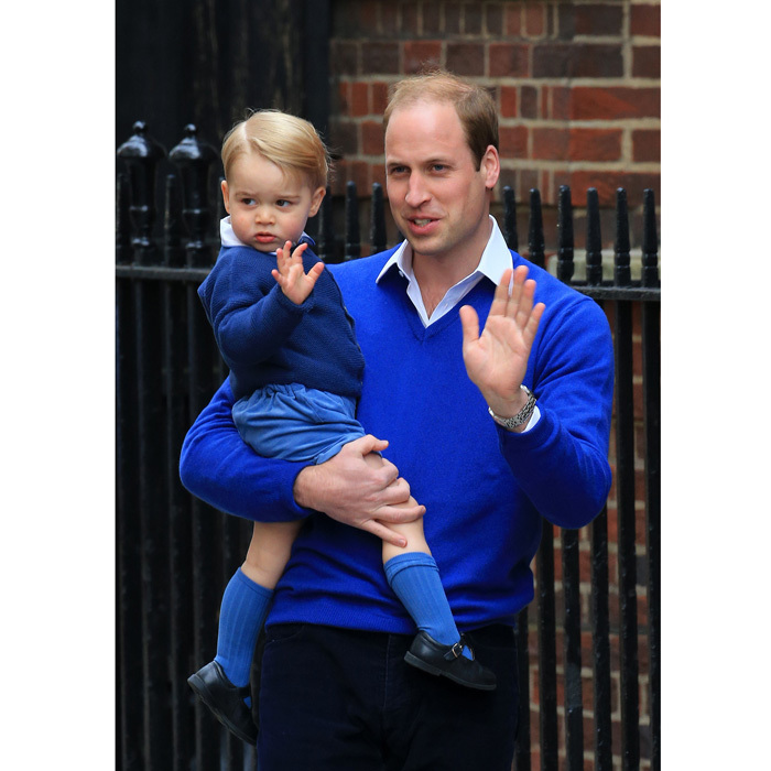 The young royal visited his newborn sister, Princess Charlotte, at the Lindo Wing donning an Amaia Kids cardigan over his Rachel Riley cord short and shirt set. Naturally the Prince stepped out for the joyous occasion in his signature Amaia socks.