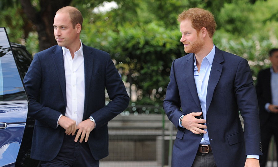 Meanwhile, Prince Charles' sons looked dapper in button down shirts and suit jackets as they teamed up for the joint engagement.