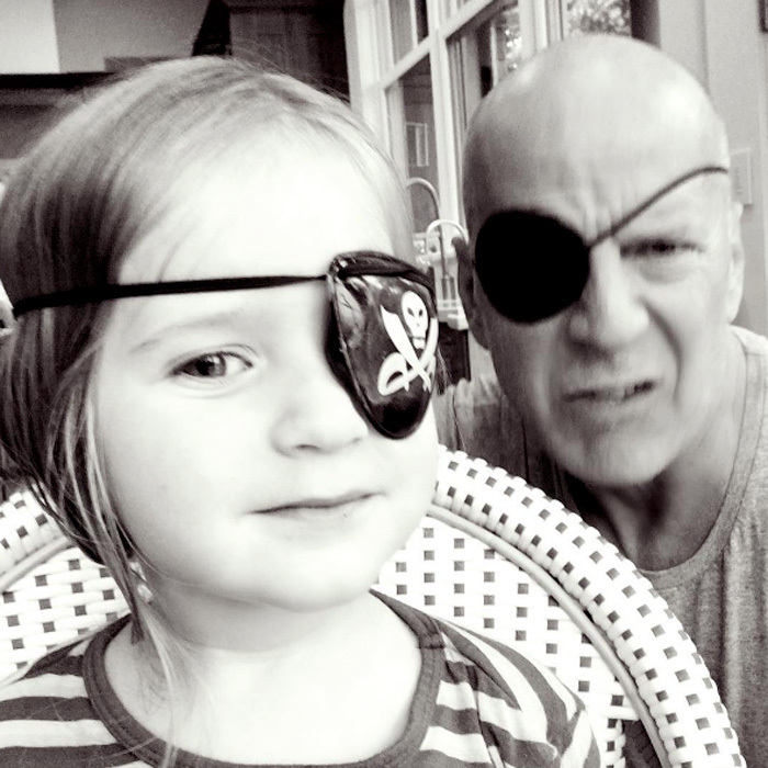 "Ahoy, mateys! It was dress up time for Bruce Willis and his daughter Evelyn. The actor and his youngest child channeled their inner pirates wearing eye patches. <i>The Sixth Sense</i> star's wife, Emma, shared the father-daughter moment on Instagram writing, ""Shiver me timbers! #yohoyohoapirateslifeforme.""