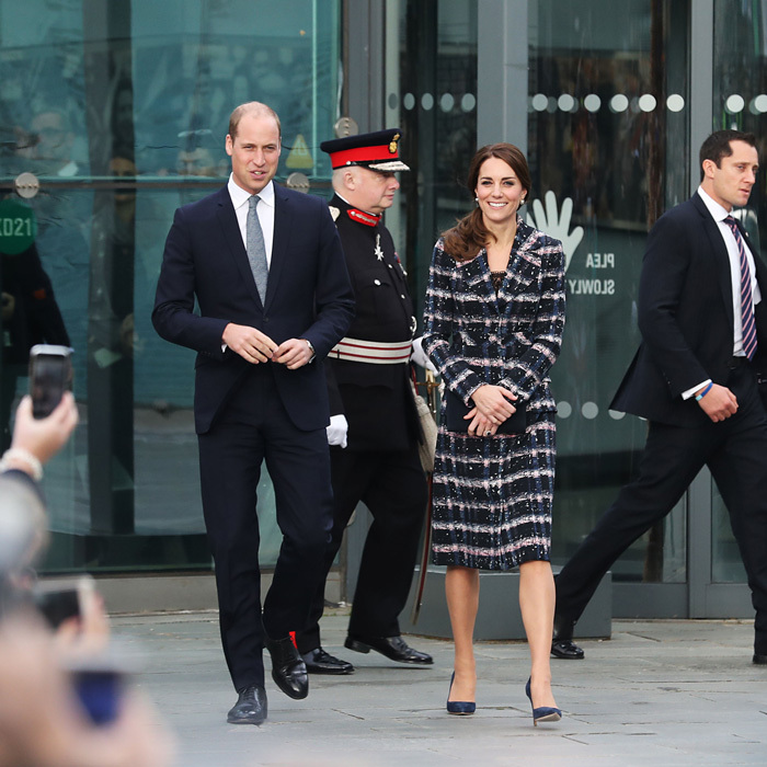 Prince William and Kate Middleton wrapped their busy week on Friday, October 14 with an 'away day' trip to Manchester. The royal couple kicked off their day with a reception at the National Football Museum, where they met young individuals, who are making a difference in their communities. 