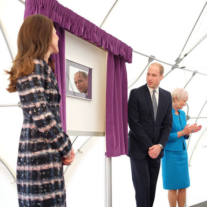 The duo unveiled a plaque, at a time capsule ceremony held at the University of Manchester.