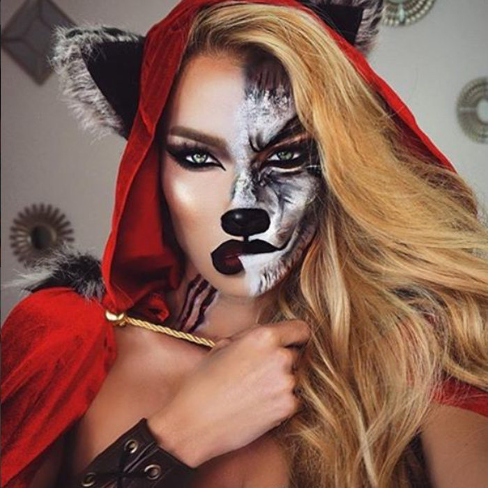 Trick... or treat? Little Red Riding Hood portrays both the good and the evil in the childhood storybook. 