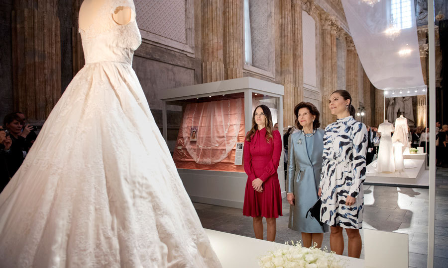 The Exclusive Display Features Five Royal Wedding Gowns Photo Jessica Gow Tt