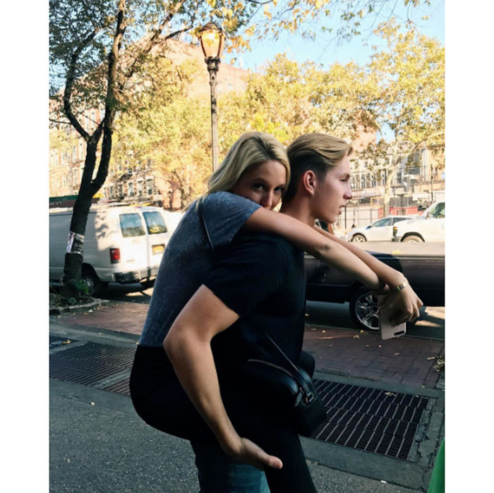 "Princess Olympia of Greece got a lift from her younger brother Prince Alexios on the streets of Manhattan's SoHo neighborhood after eating ""tooo many tacos.""
