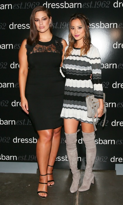 October 19: Looking good! Ashley Graham and Jamie Chung celebrated Dress Barn's More Than An Ad campaign in NYC.. 