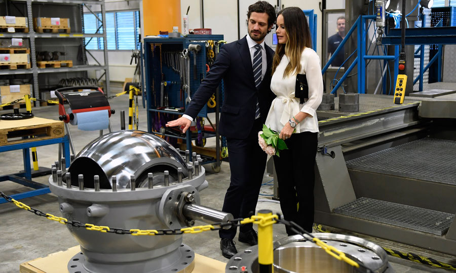 The Swedish royals toured AB Somas Ventiler, which  manufactures butterfly, check and ball valves in stainless steel materials. 
