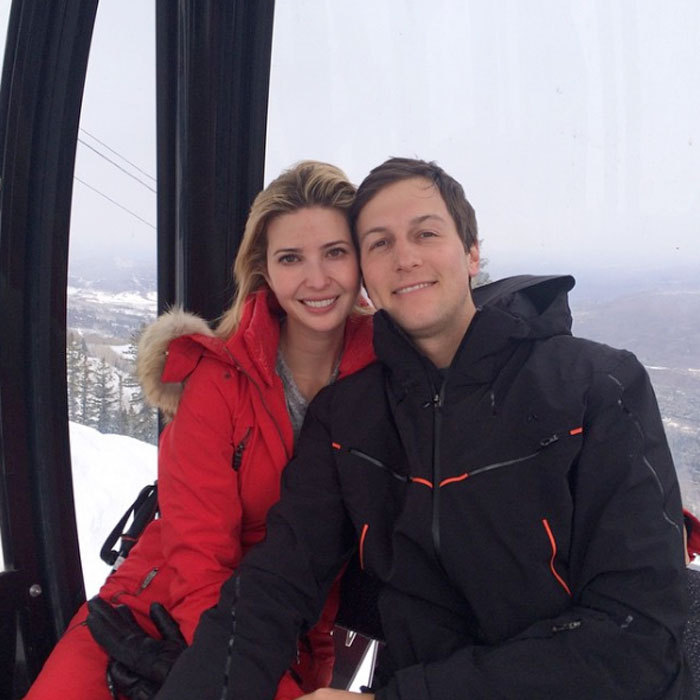 Jared and his wife were a pair of snow bunnies during a ski holiday in 2015.