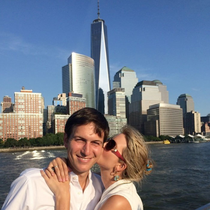 Ivanka planted a kiss on her husband, while out and about in their hometown, NYC in 2014.
