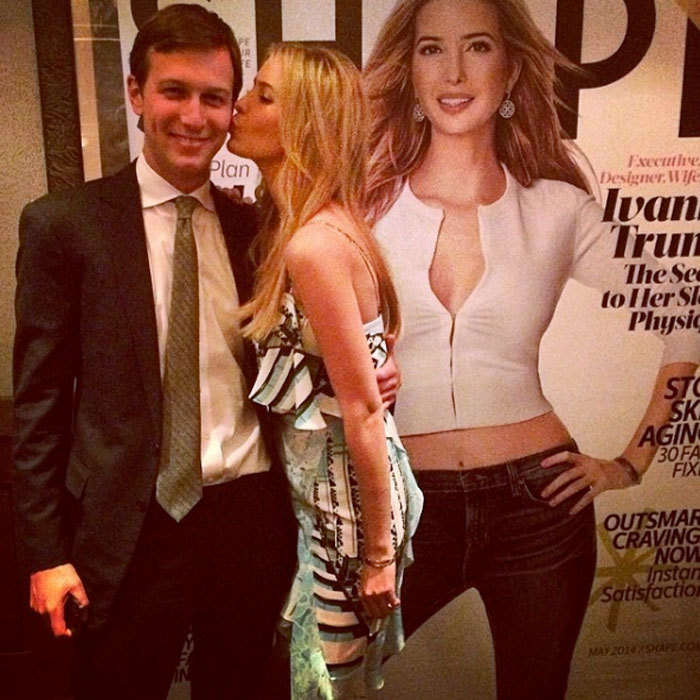 "Donald Trump's daughter celebrated her Shape magazine cover with her husband. Ivanka captioned the sweet photo, ""Cover shot!""
