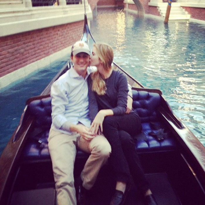 "That's amore! The couple went for a gondola ride. Ivanka captioned the tender snap, ""Venice? Nah... It's Vegas baby!""