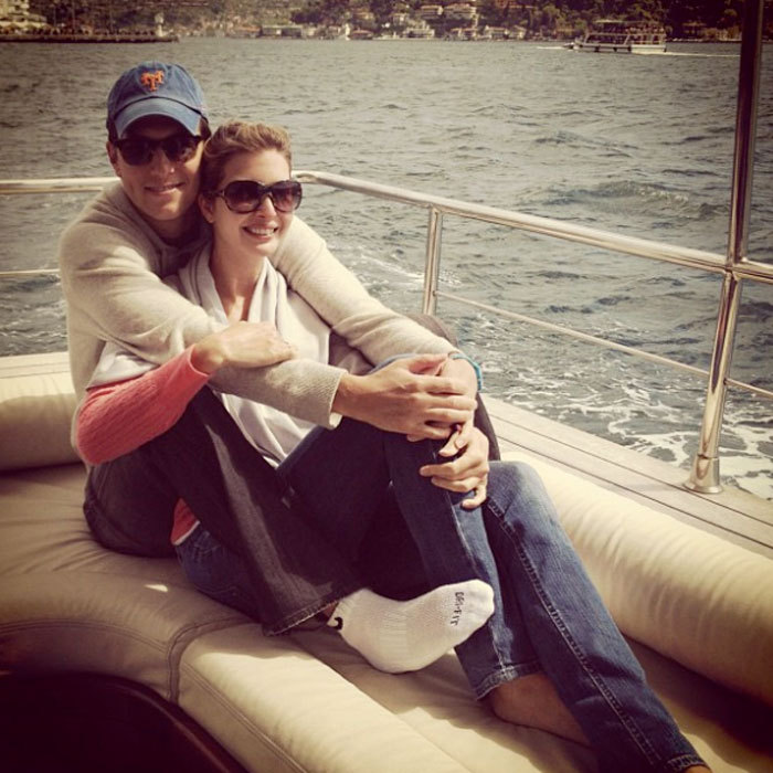 Jared and Ivanka cuddled close to each other on a boat ride down the Bosphorus during a 2012 trip to Istanbul.