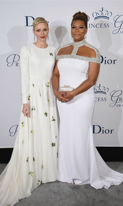 A Princess and a Queen! Queen Latifah met Princess Charlene and her husband Prince Albert II of Monaco during the 2016 Princess Grace Awards in NYC. The royal couple presented the music legend with the Prince Rainier III Award for her outstanding contribution to the Arts. 