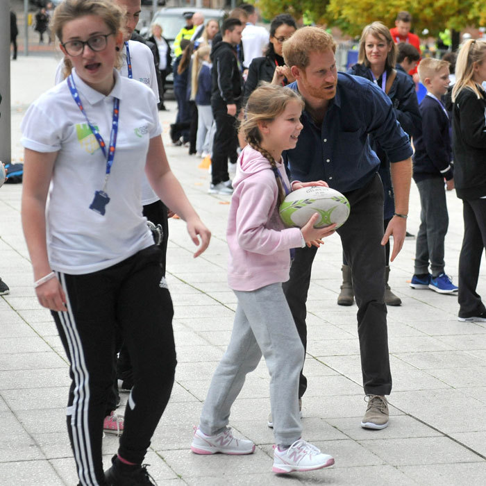It was a sporty day for Prince Harry. The royal also visited the National Ice Centre, which is one of the partners involved in providing Nottingham's Coach Core sporting apprenticeships. The program provides young individuals the chance to train as sports coaches. 