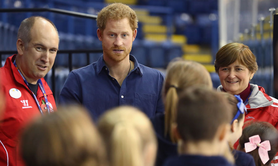 "Prince George's uncle told school children at the ice center to, ""Keep practicing.""