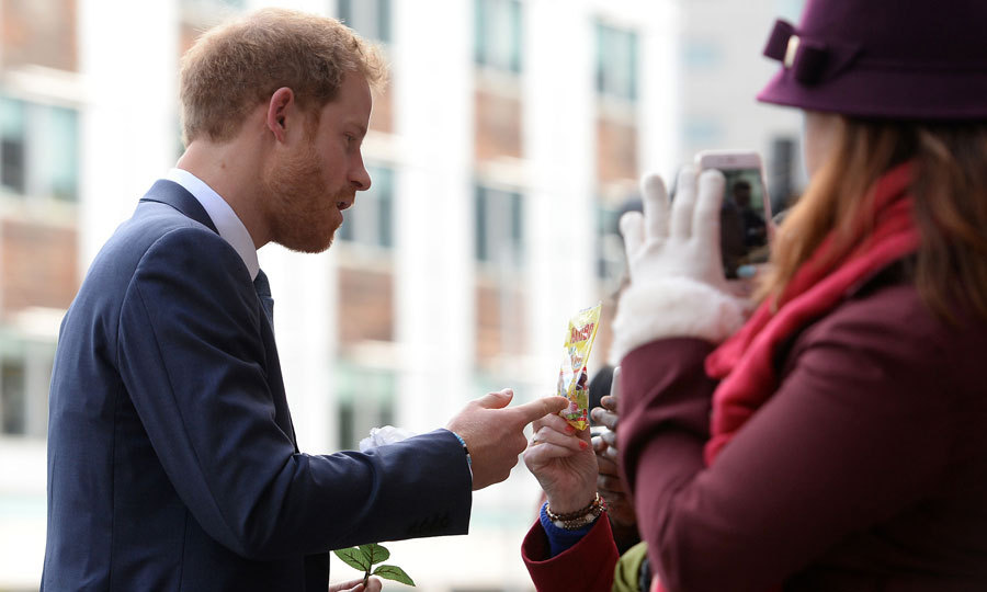 "During the outing, the royal was gifted a bag of Haribo sweets and Nottingham fudge. ""How did you know I like them?""Harry asked the woman who presented him with treats. The royal fan revealed to him that she had met Prince Charles and Princess Diana when Harry was little and remembered them saying he was a fan! 