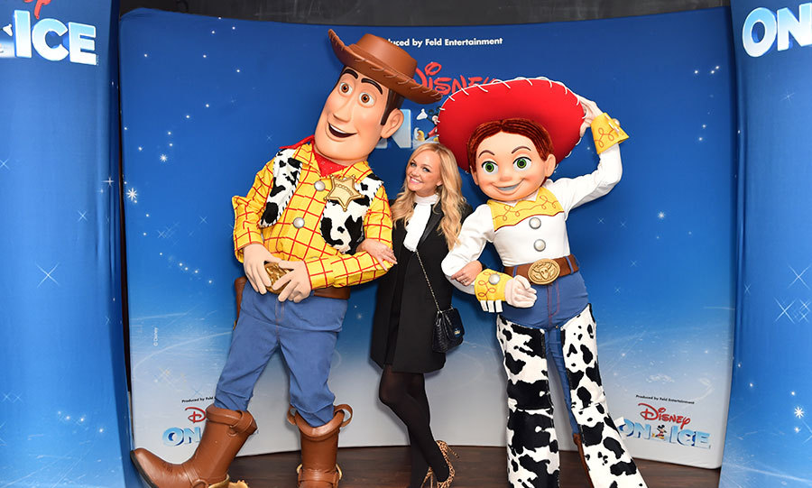 <I>Toy Story</I> fan and former Spice Girl Emma Bunton reassured us that Baby Spice will never grow up, pictured with Woody and Jessie at Disney on Ice.