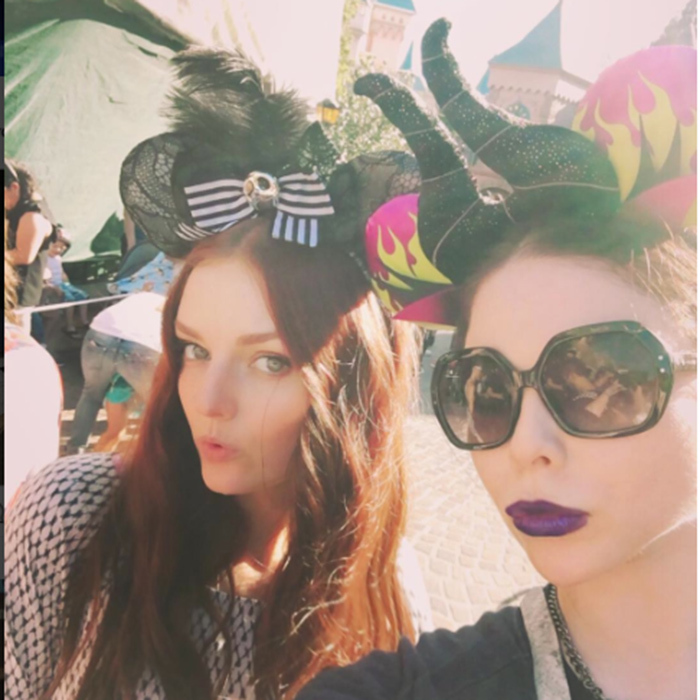 Michelle Trachtenberg, who is a Disney regular, celebrated pal Lydia Hearst's birthday at the theme park.