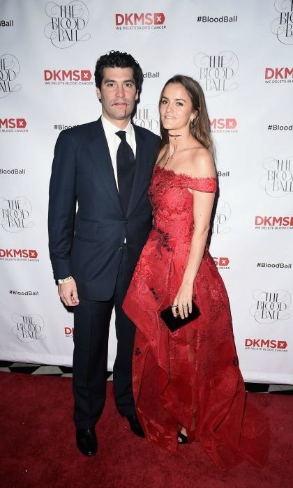 Lady Charlotte, the daughter of the Duke of Wellington, had her husband Alejandro Santo Domingo by her side as she co-hosted the DKMS 2016 Blood Ball at Diamond Horseshoe in NYC. 