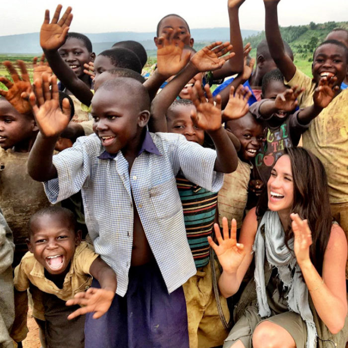 <b>She's a humanitarian</b>