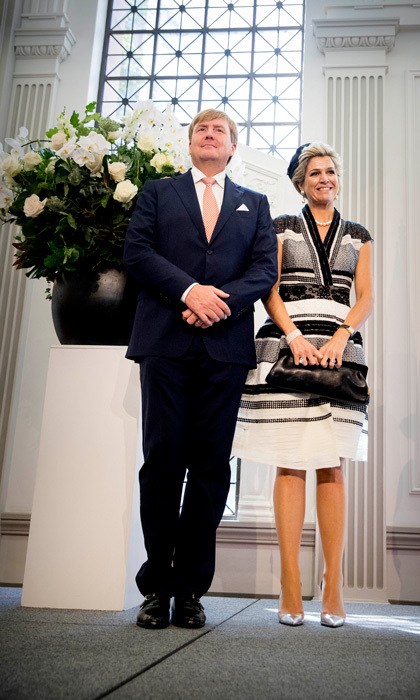 King Willem-Alexander and Queen Maxima attended a meeting with the Dutch community at Brisbane City Hall, during their state visit to Australia.