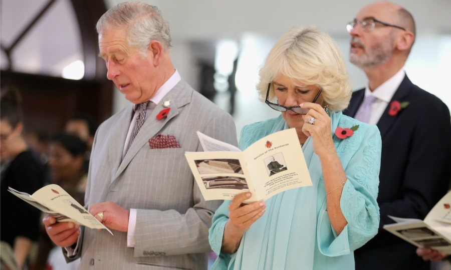 Prince Charles and Camilla attended a service at the Bait Al Noor Church in Muscat, Oman. 