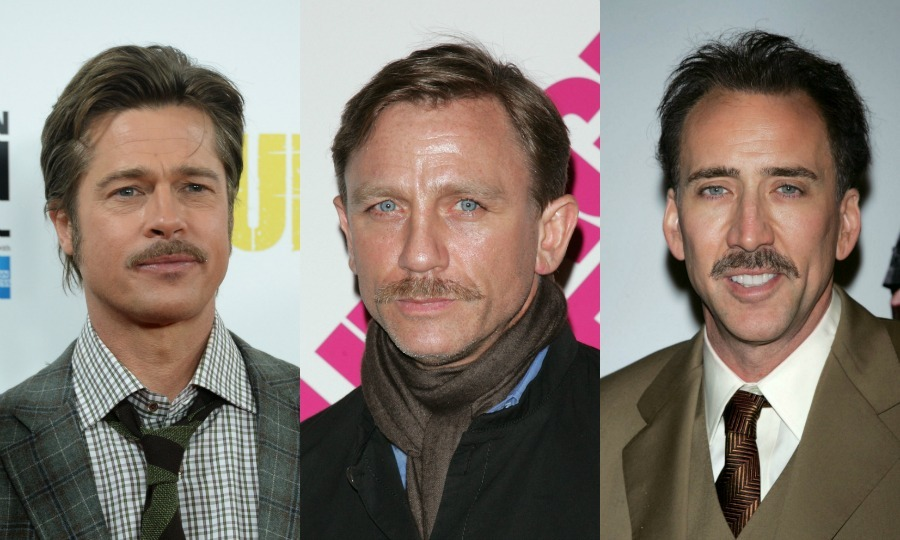 These men prove that they can be both clean-shaven and scruffy! In honor of #Movember, which helps get the word out about some of the biggest health issues faced by men by growing mustaches for the month of November, here is a look back at some of Hollywood's hottest leading men and their short-lived days with the 'stache. 
