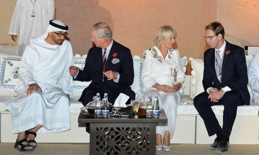 Charles and Camilla met with people at the attend Al Jahili Fort in the United Arab Emirates. 