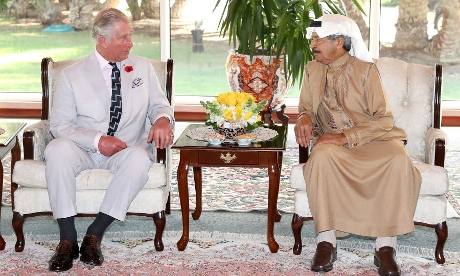 Two leaders! Charles met with Prime Minister of Bahrain Khalifa bin Salman Al Khalifa at his home in Manama, Bahrain. The two talked about empowering communities for a positive change. 