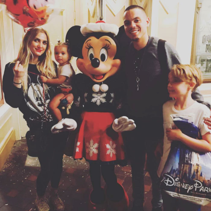 It was a also a storybook family affair for Ashlee Simpson! The singer took her son Bronx, husband Evan Ross and their daughter Jagger to Disneyland. Sharing a photo from the outing she wrote, '@Disneyland love love love this place. Magical.'