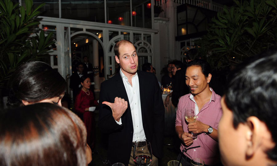 Princess Charlotte's dad met 50 young individuals at the reception and discussed the contributions they are making to Vietnamese society.  