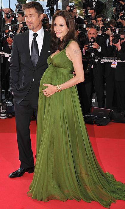 "<a href=""https://us.hellomagazine.com/tags/1/angelina-jolie/""><strong>Angelina Jolie</strong></a> was simply radiant in her green goddess gown as she and then-husband <a href=""https://us.hellomagazine.com/tags/1/brad-pitt/""><strong>Brad Pitt</strong></a> attended the <I>Kung Fu Panda</I> premiere during the 61st Cannes International Film Festival in 2008. The parents-of-six welcomed their twins Knox & Vivienne in July of that year.