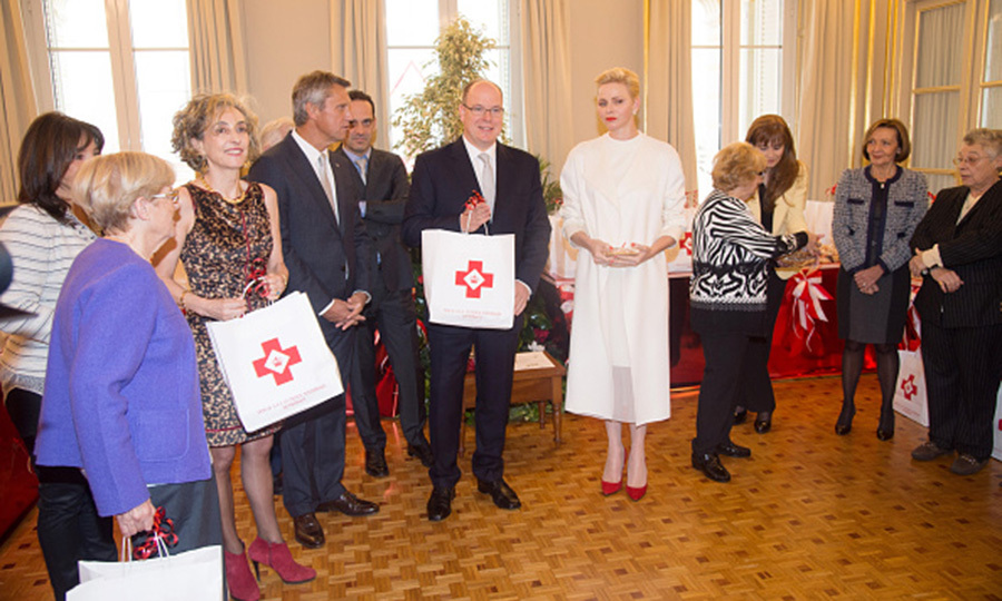 Prince Albert II of Monaco and Princess Charlene stepped out in the name of philanthropy, visiting the Monaco Red Cross Headquarters.