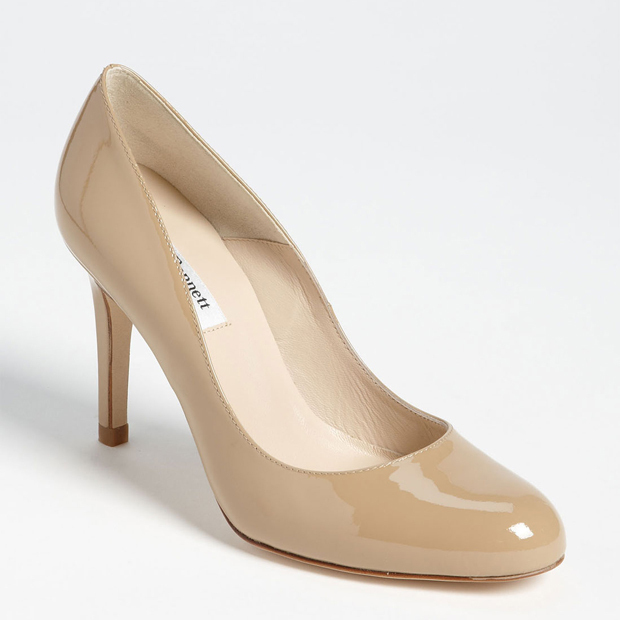The Duchess of Cambridge is known to wear a few styles of footwear: dock shoes for casual outings, wedges to step things up a bit and nude pumps from L.K. Bennett for more elegant occasions. She happily slips on the latter for hours and goes back to them time and again, so you know they're as comfortable as they are stylish.