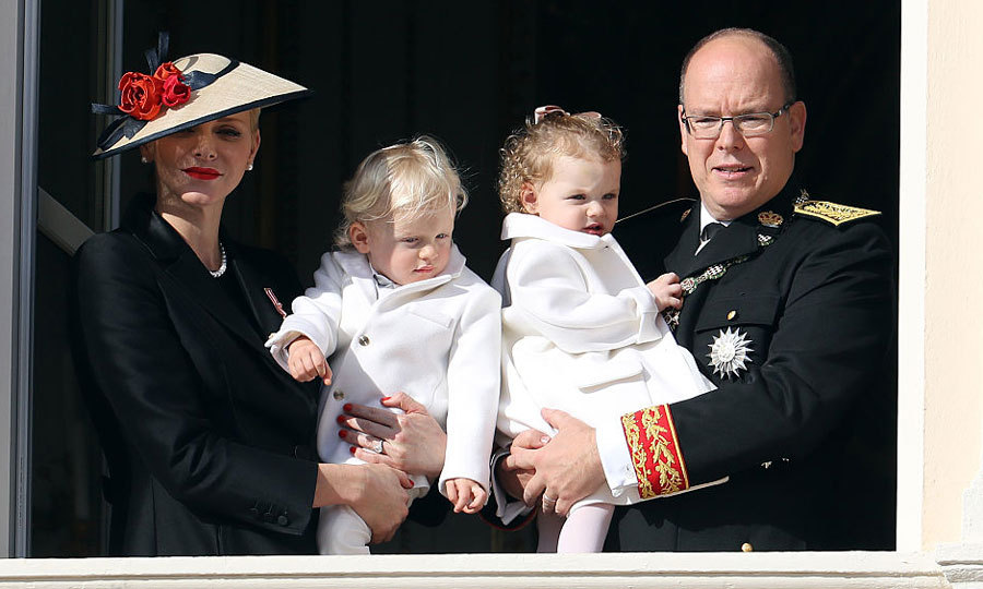 November 2016: Prince Jacques and Princess Gabriella joined their mom and dad - Princess Charlene and Prince Albert - on the balcony of the Monaco Palace for the country's National Day celebrations. 