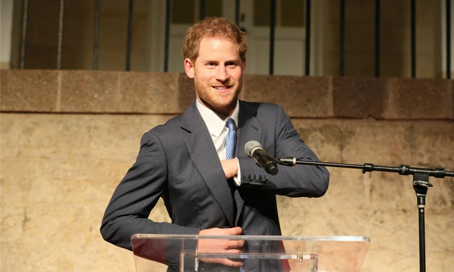 During the welcome reception, Harry spoke on behalf of the Queen, as she congratulated the island on 35 years of independence. 