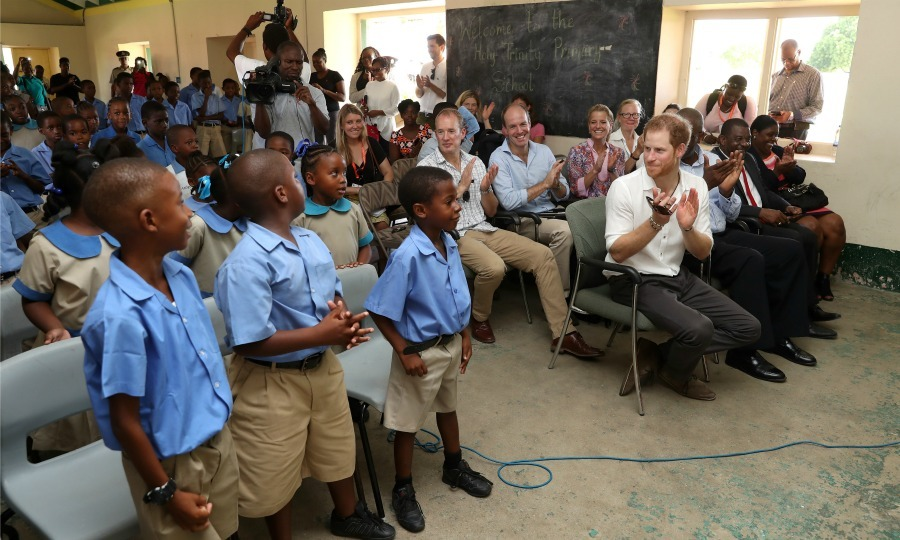 Harry took a trip to the Trinity Primary School in Barbuda. The school is preparing to mark it's 93rd anniversary of its Founder's Day. 