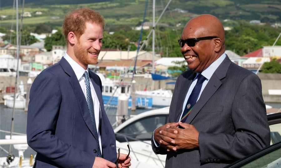 Prince Harry jetted off to the island of St. Kitts and Nevis for the second leg of his Carribbean tour on behalf of the Queen. Harry will spend the day on the island, meeting with its leaders, dignitaries and youth. 