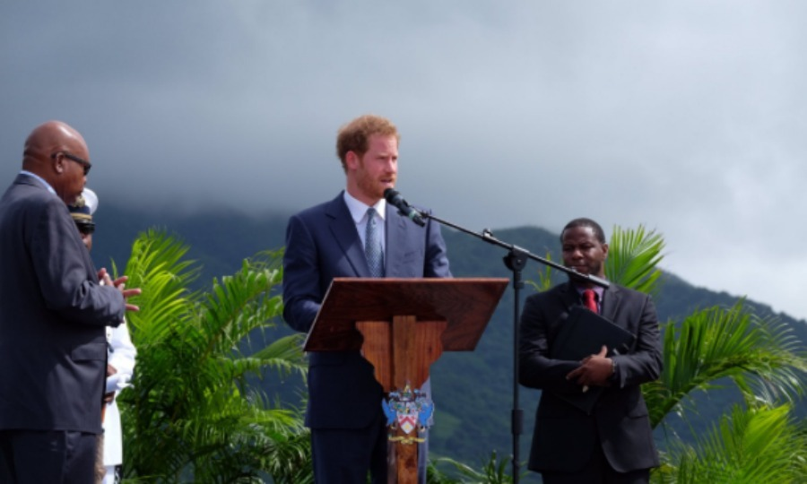 In front of the amazing forest, Harry spoke to the crowd at the Youth Rally about the importance of meeting the young people whenever he travels and why he makes them a top priority. 