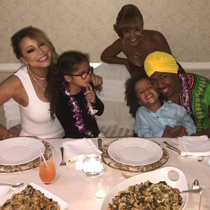 Nick Cannon reunited with ex Mariah Carey and their kids Monroe and Moroccan.