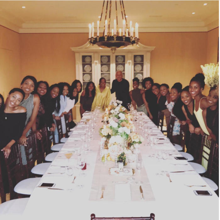 "Oprah Winfrey and partner Stedman Graham hosted quite a large group for Thanksgiving! The chat show legend wrote: ""Dinner Finally! Our house to South Africa to your House.. blessings旅❤️""
