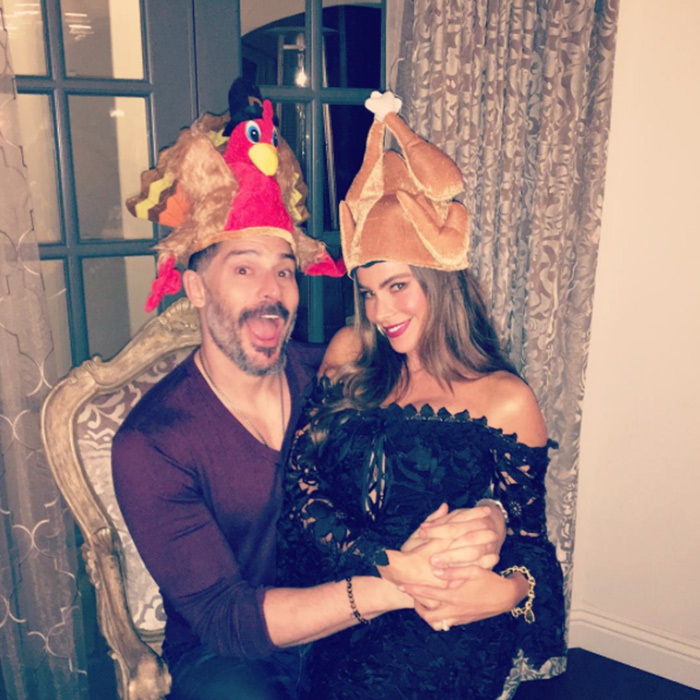 Sofia Vergara got into the Thanksgiving mood in a big way with husband Joe Manganiello.