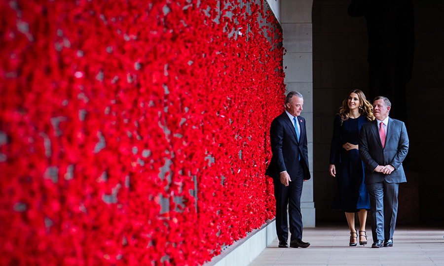 The King and Queen also traveled to the Australian War Memorial Museum in Canberra on November 23.