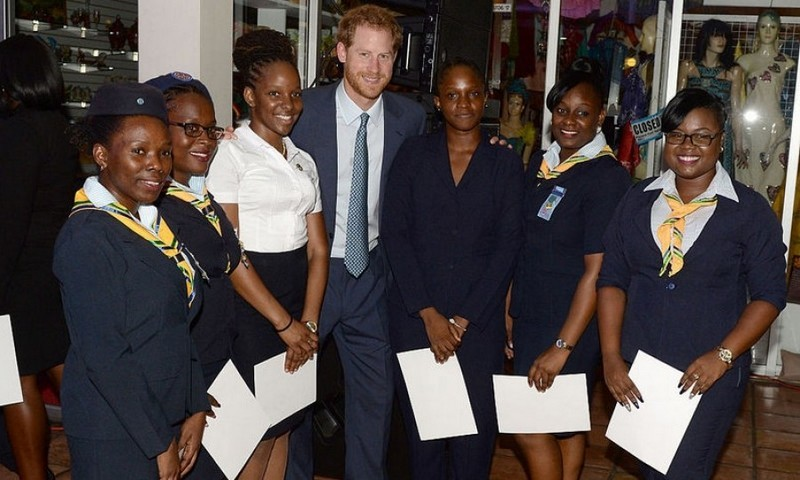 Prince Harry met some lovely ladies from the Girl Guides during a welcome reception.