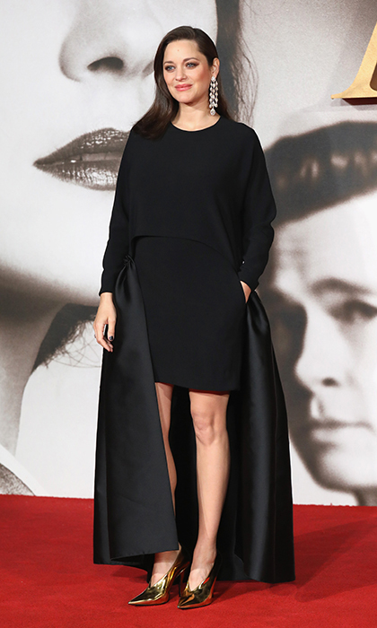 "<a href=""https://us.hellomagazine.com/tags/1/marion-cotillard/""><strong>Marion Cotillard</strong></a> looked sleek and chic in Dior at the UK Premiere of <I>Allied</I> on November 21, 2016 in London. Her bundle of joy is due in early 2017.